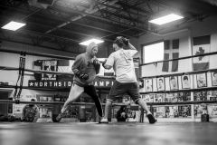 Coach Oscar trains Cash on Sept. 30, 2019 before his national boxing competition in Ohio. He won the 2019 Junior Male USA Boxing Eastern Elite Qualifier title at the 145 pounds weight class.