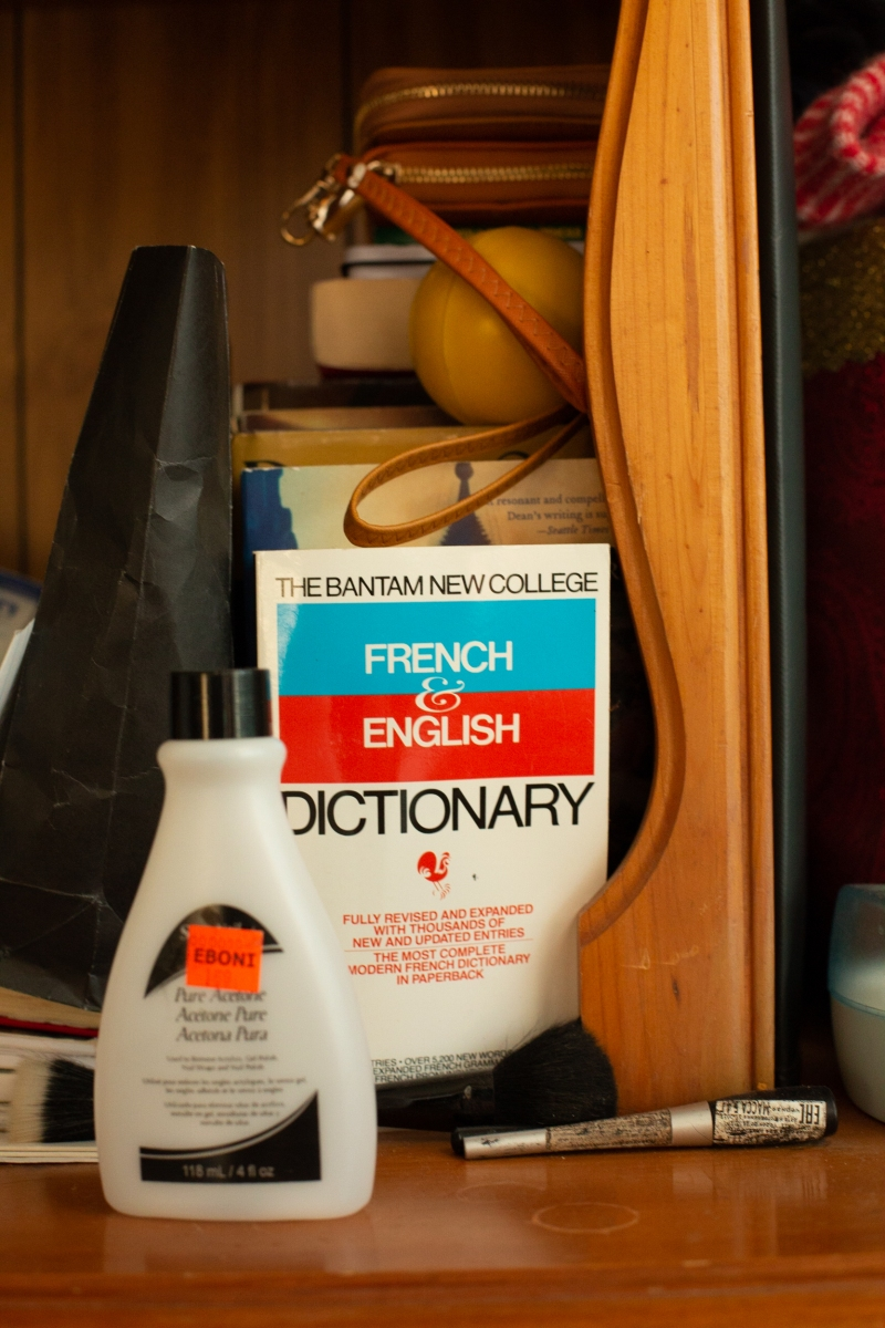 The French to English dictionary in Kate* and Pamela's* bedroom in Detroit, Michigan. Kate and Pamela are cousins from the Republic of Congo, who fled to Detroit after being targeted by the government. Back home in the Congolese capital of Brazzaville, the cousins feared a regime that imprisons and tortures anyone they view as threatening their power. Unlike resettled refugees from Syria, Iraq, and Afghanistan, asylum-seekers are not given financial support from the government when they arrive, and their legal status remains undecided for years.