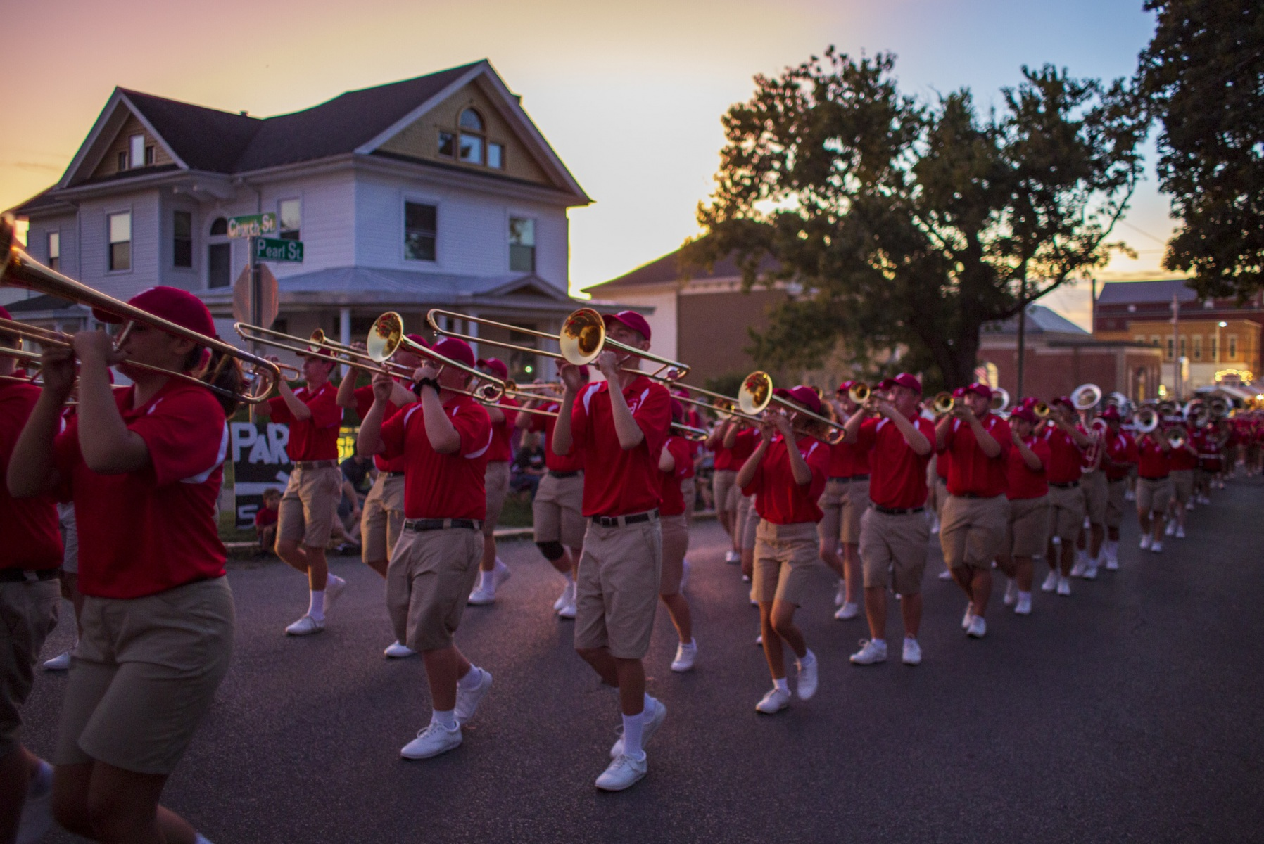 Jackson High School band performs during the parade at the Jackson Apple Festival in Jackson, Ohio, on Wednesday, September 18, 2019.
